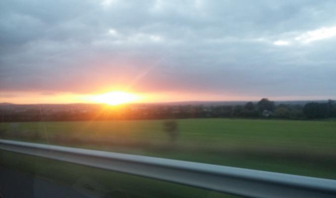 WARP coucher de soleil aller