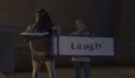 Capturshrek laugh sign